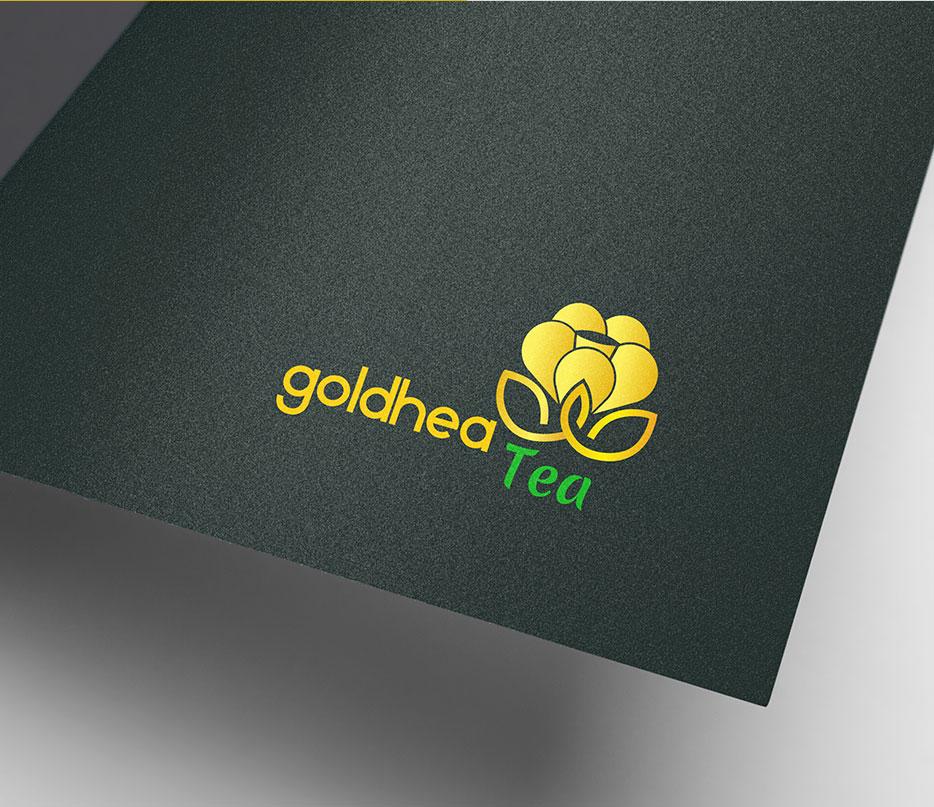 THIẾT KẾ LOGO TRÀ HOA VÀNG GOLDHEA TEA